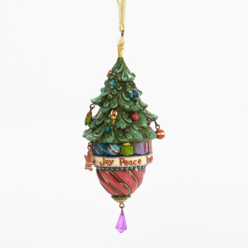 Jim Shore for Enesco Heartwood Creek Legend of Christmas Tree Ornament, 5.5-Inch