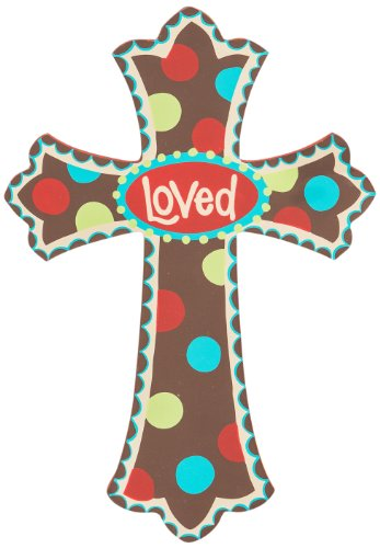 Glory Haus Loved Wood Cross Wall Decor, 8 by 11.5-Inch