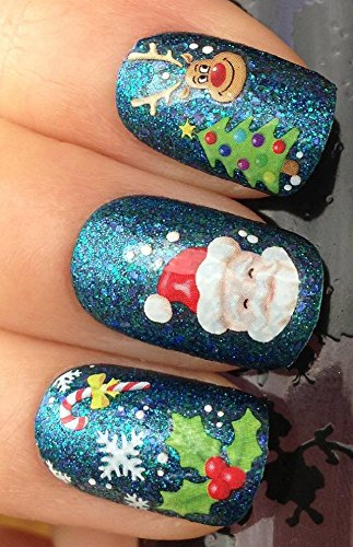 Luxbon Nail Art Water Tatoo Nail Sticker/Decals Snowman Christmas Tree Water Transfer Ornament Funny Beauty Enjoyable Popular Design
