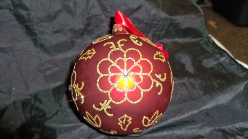 Waterford Flower Burst Ball Lrg Glass Ornament NIB!