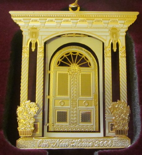 Baldwin Ornament 24 KT Gold Finished Brass 2004 Our New Home NEW in BOX