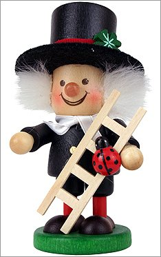 "13-0805 – Christian Ulbricht Nutcracker – Chimney Sweep – 4.5″""H x 2.25″""W x 2.25″""D"
