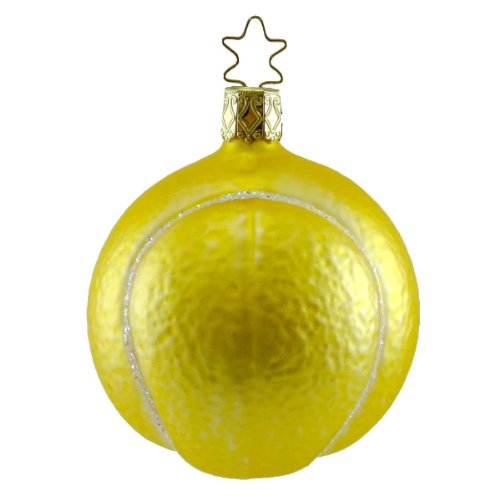 Inge Glas TENNIS ANYONE 104904 Ornament Sport Ball Racket Net New