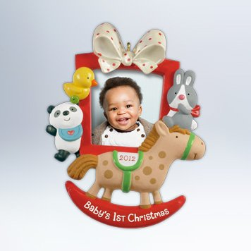 Hallmark 2012 Keepsake Ornaments QXG4604 Baby's First Christmas Photo Frame