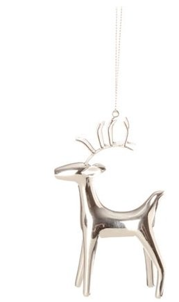 RAZ Imports Silver Deer Ornament, Choice of Styles (right standing)