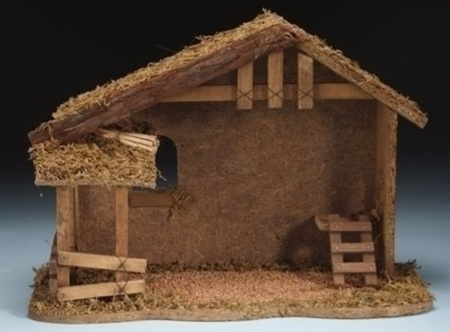 5 Inch Fontanini Nativity Stable Only 54628