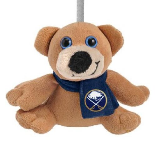 Forever Collectibles 4.5″ Buffalo Sabres Plush Bear with Scarf Ornament