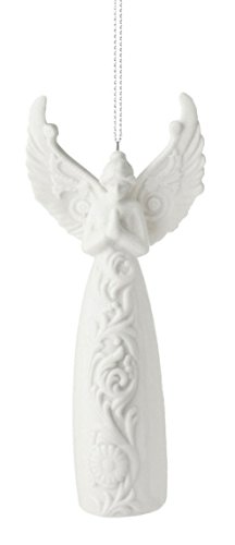 Praying Angel with Spread Wings Christmas Tree Ornament