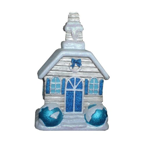 Martha Stewart Living Holiday Frost 12.25 in. Snow Covered Christmas Village