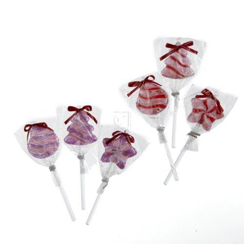 5″ Pink & Red Lollipops 6/asstd.