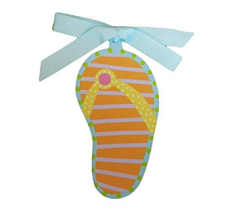 Coton Colors Flip Flop Wooden Gift Tag