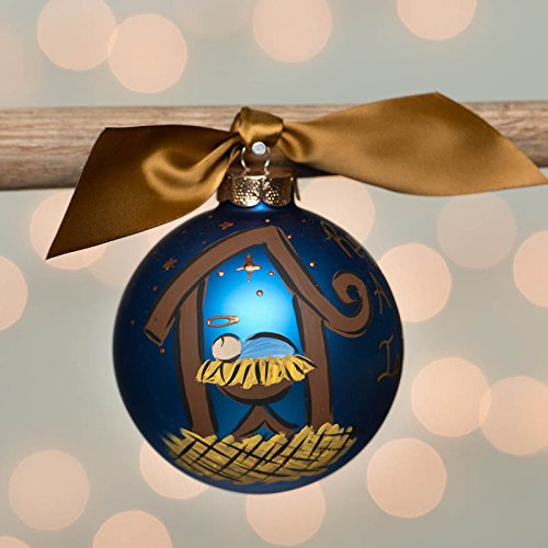Glory Haus Nativity Scene Glass Ball Ornament