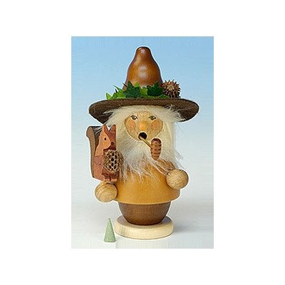 "1-536 – Christian Ulbricht Incense Burner – Woodsman with Squirrel – 5.5″""H x 3.25″""W x 3″""D"