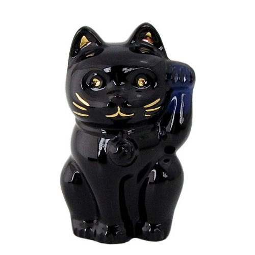 Baccarat Baccarat beckoning cat figure ornament Midnight 2607787 [ parallel import goods ]