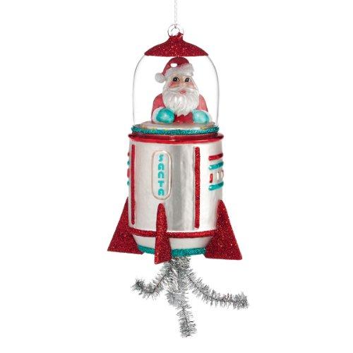 Department 56 1956 Christmas Santa Rocket Ornament, 7.5-Inch