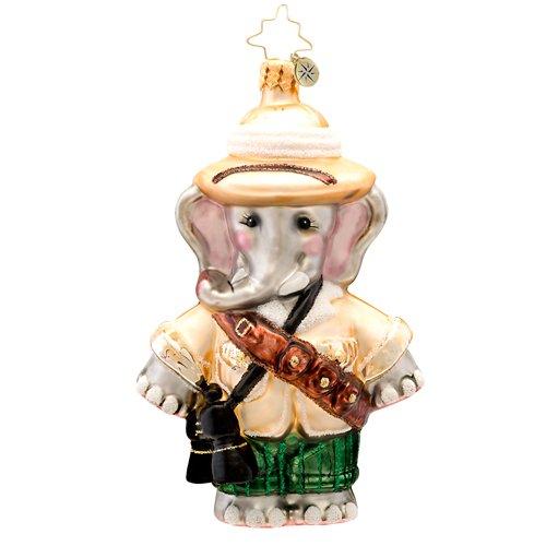 Christopher Radko Safari Sam Elphant Glass Christmas Ornament 2014