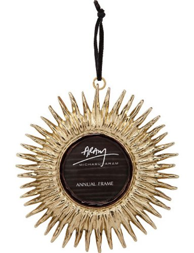 Michael Aram Sunburst Annual Frame Gold Ornament 2013