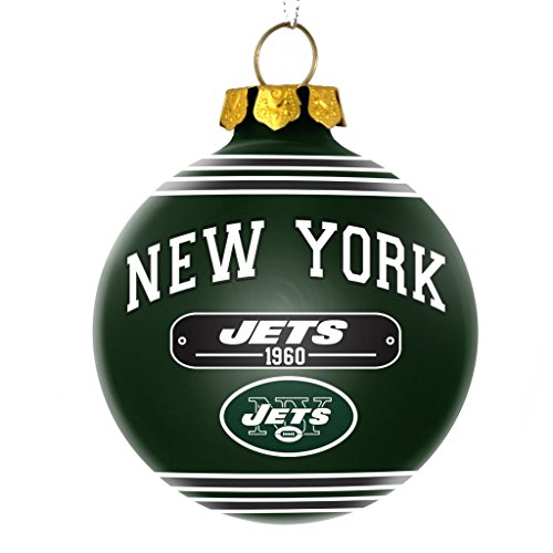 New York Jets Official NFL 2014 Year Plaque Ball Ornament