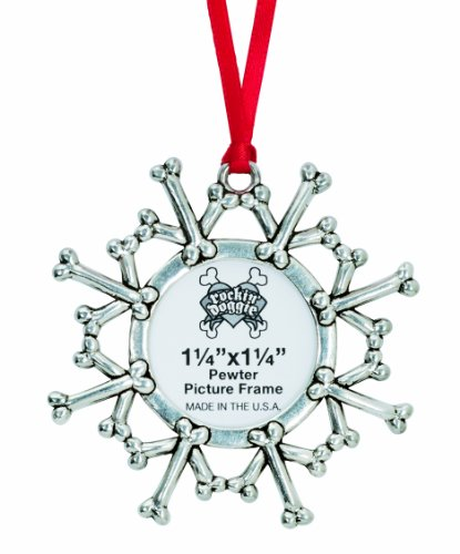 Rockin' Doggie Pewter Ornament, Snowflake/Picture