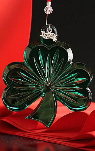 Waterford Crystal Green Shamrock Ornament New 2014