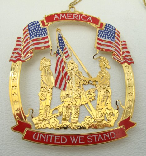 Wallace United We Stand 911 Gold Plated Ornament