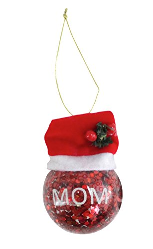 Worldwide Basix Holiday Glass Ornament – Glitter 61325 (Mom)