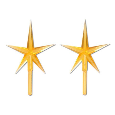 Bulk Buy: Darice DIY Crafts Ceramic Tree Accessories Star Gold 3-7/8 x 2-5/8 inches (3-Pack) P0681