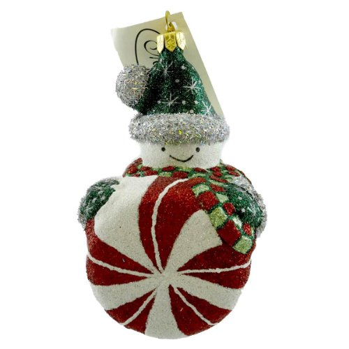 Mattarusky FLAVORFUL FUN M162 Ornament Snowman Peppermint New