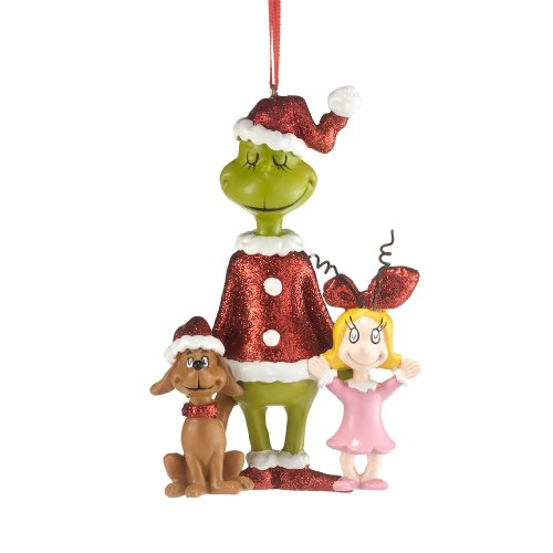 Department 56 Grinch Cindy/Max Ornament, 4.25-Inch