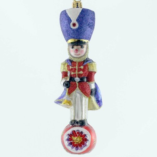Christopher Radko Toy Soldier Topper Pediatric Cancer Glass Christmas Ornament 2014