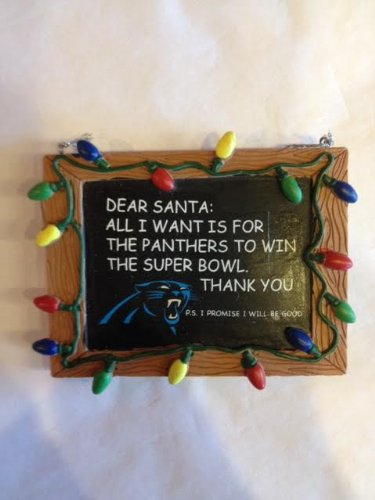 Carolina Panthers Official NFL 3 inch x 4 inch Chalkboard Sign Christmas Ornament