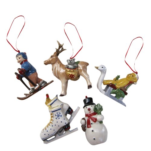 Villeroy & Boch Nostalgic Ornaments Winter Ornaments: Set of 5