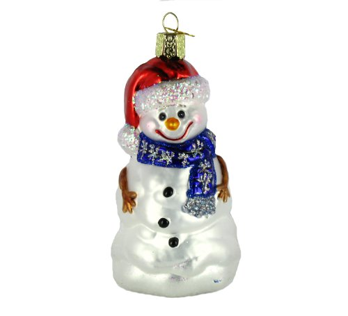 Old World Christmas Happy Snowman Ornament