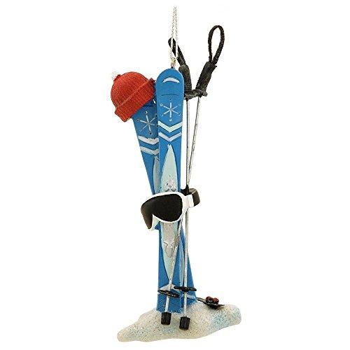 Snow Skis, Hat, Goggles & Poles Ski Equipment Christmas Ornament