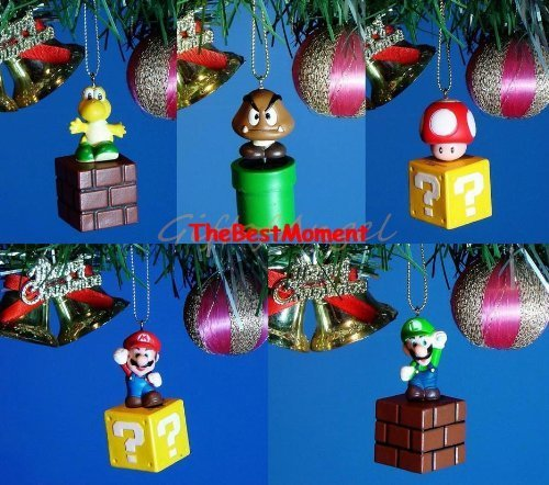 Mario *R13to17 Decoration Home Party Ornament Christmas Super Mario Bros Brothers Set (Original from TheBestMoment @ Amazon)