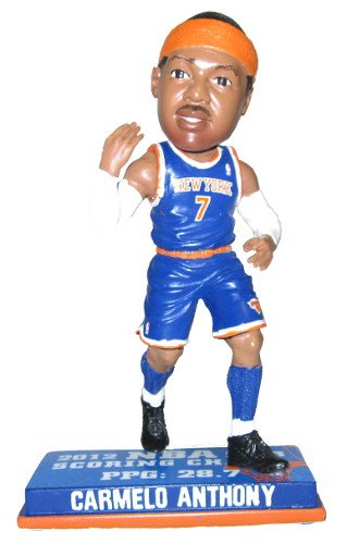 Carmelo Anthony New York Knicks 2013 NBA Scoring Champ Bobble Head Forever Collectibles