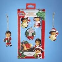Nickelodeon Dora the Explorer Set of 5 Miniature Christmas Ornaments Holiday Kurt Adler