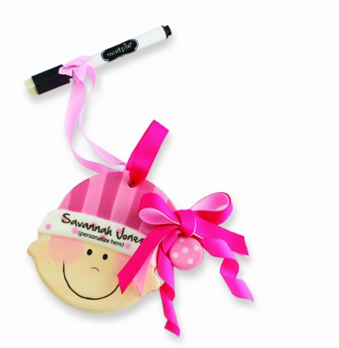 Mud Pie Ornament, Baby Girl