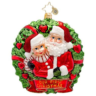 Christopher Radko Loving Couple Ornament 2014