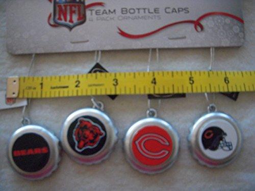 Chicago Bears Team Bottle Cap Ornaments