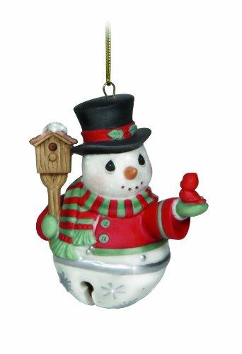 Precious Moments Snowman Jingle Bell Ornament