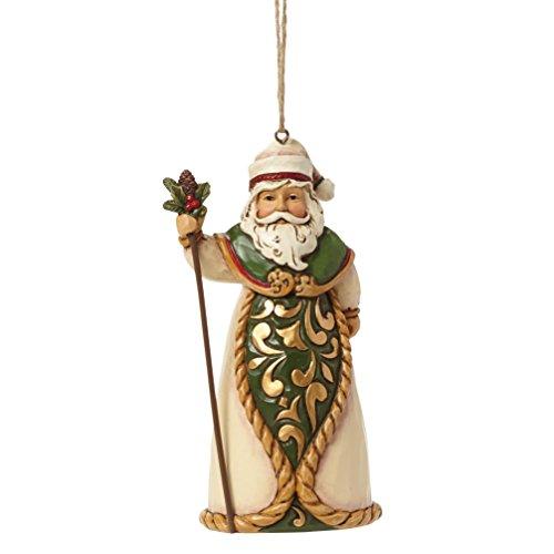 Enesco Jim Shore Heartwood Creek – Santa Green / Ivory Hanging Ornament 4044570