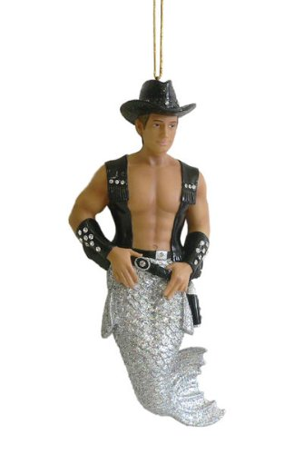 "December Diamonds Stud the Cowboy Merman Ornament.It's all about the ""Bling""…a New Line with Tons of Sparkle & Rhinestones!!!"