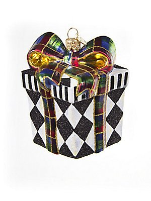MacKenzie-Childs Cortly Check Harlequin Present Ornament