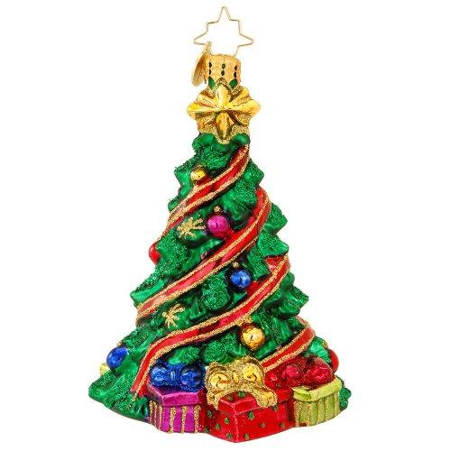 Christopher Radko Jolly Tree Trim Glass Christmas Ornament 2014