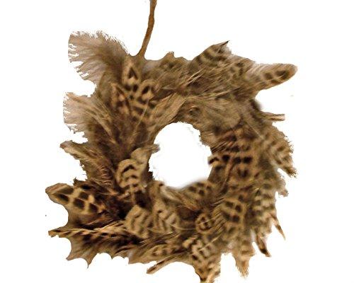 St. Nicholas Square Winter Cabin Feather Wreath