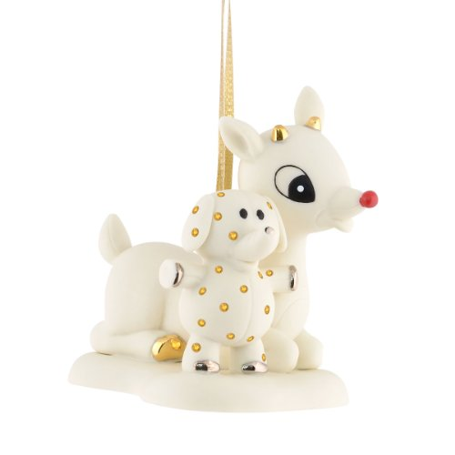 Department 56 Rudolph Rudolph and Elephant Bisque Ornament, 2.76-Inch