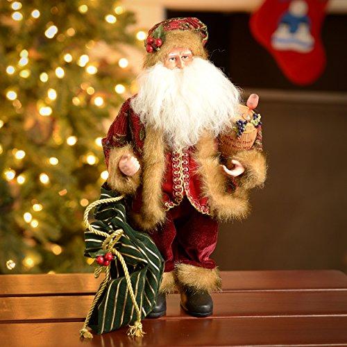 Santa's Workshop 15″ When In Doubt Wine Santa