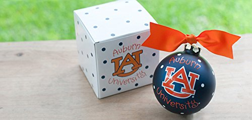 Coton Colors Auburn (AU) Logo Ornament. Any Fan Will Love This Auburn Logo Ornament. You'll Be Proud to Showcase Your School Pride During the Holiday Season with This Spirited Ornament Featuring the Auburn Logo and School Colors! Each Ornament Is Perfectly Packaged with a Matching Gift Box and Coordinating Tied Ribbon for Easy Gift Giving and Safe Storage.