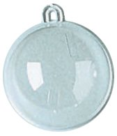 Darice Plastic Fillable Ornament Ball, 60mm, Clear